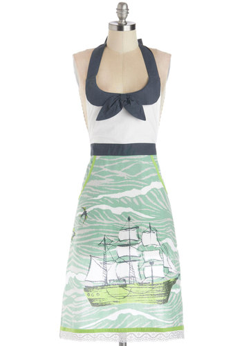 Sea to Dining Sea Apron - Cotton, Woven, Multi, Nautical, Better, Food, Summer