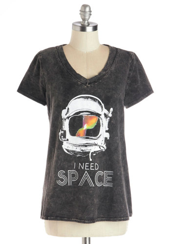Gotta Blast! Tee - Cotton, Knit, Novelty Print, Short Sleeves, Better, Black, Short Sleeve, Casual, Vintage Inspired, 90s, Sayings, V Neck, Grey, Multi, Top Rated, Cosmic