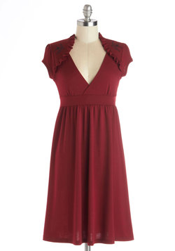 Belles and Whistles Dress in Burgundy