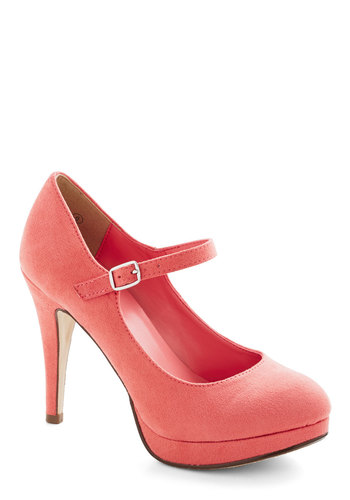 Ambrosia to the Occasion Heel - High, Faux Leather, Pink, Solid, Wedding, Party, Girls Night Out, Bridesmaid, Good, Platform, Mary Jane