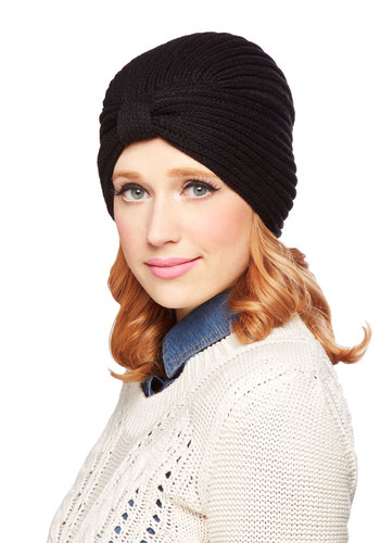 Where There's a Chill Hat in Black - Knit, Black, Solid, Fall, Winter, Better, Knitted, Variation