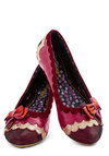 Singing Scales Flat by Irregular Choice - Pink, Multi, Bows, Scallops, International Designer, Low, Leather, Red, Gold, Holiday Party