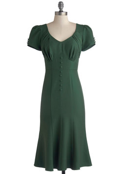 Down to a Pine Art Dress in Green