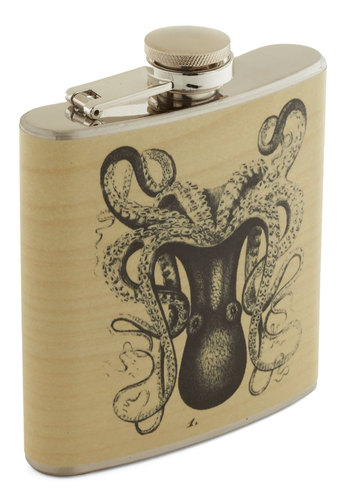 Kind of a Swig Deal Flask - Multi, Nautical, Good, Print with Animals