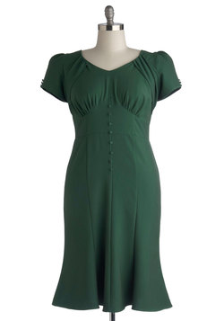 Down to a Pine Art Dress in Plus Size