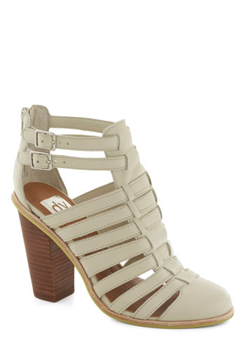 Terrace at Dusk Heel by Dolce Vita - High, Leather, Cream, Solid, Cutout, Best, Chunky heel, Strappy