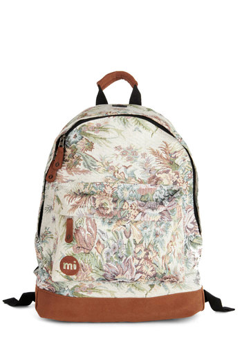 Posy Potpourri Backpack in Tapestry - Floral, Scholastic/Collegiate, Good, Faux Leather, Woven, Multi