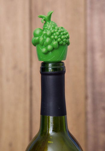 Savor It for Later Wine Stopper by Gama-Go - Green, Fruits, Good