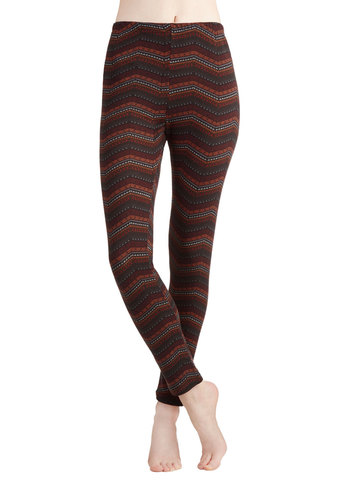 Stratigraphy Standout Leggings - Knit, Multi, Chevron, Casual, Skinny, Multi