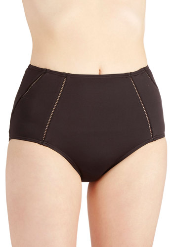 Sandcastle Architect Swimsuit Bottom - Black, Solid, Beach/Resort, Film Noir, Urban, Summer, Best, Sheer, Knit, Cutout, High Waist