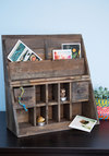 Wooden It Be Lovely Desk Organizer - Brown, Rustic, Best, Solid