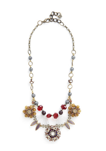 Versatile Vibrancy Necklace - Multi, Beads, Flower, Statement, Holiday Party