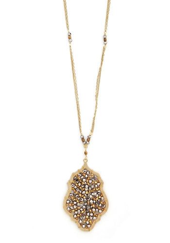 Glitz and Enamour Necklace - Solid, Beads, Luxe, Gold, Better, Silver
