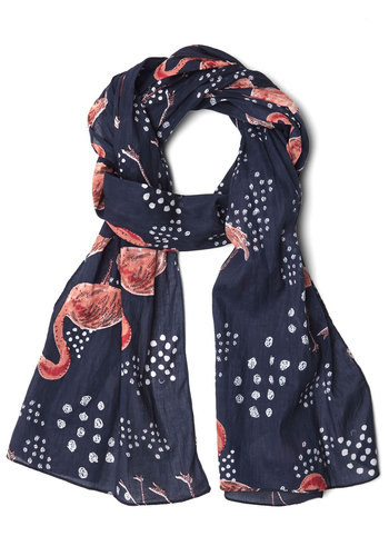 Stand Up for Style Scarf by Disaster Designs - Blue, Pink, White, Print with Animals, Casual, International Designer, Top Rated