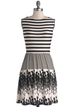 Stripes and Silhouettes Dress
