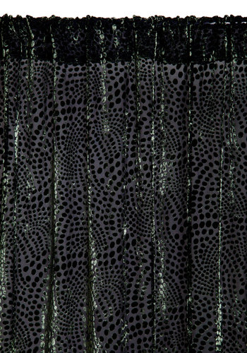 Velvet Verdure Curtain - Sheer, Woven, Green, Luxe, Better, Polka Dots, Exclusives