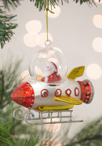 Rocket Around the Tree Ornament by One Hundred 80 Degrees - Multi, Holiday, Sci-fi, Good