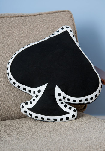 You've Got It Spade Pillow - Black, Quirky, Better, Woven