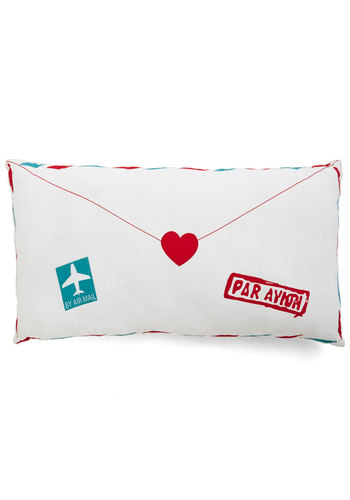 Flair Mail Pillow - Woven, Multi, Travel, Good, Novelty Print, Exclusives, Valentine's, Wedding