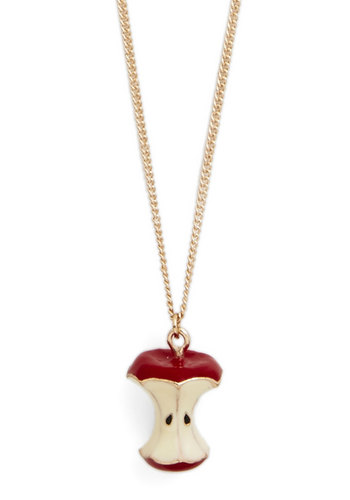 Core Values Necklace - Tan / Cream, Fruits, Red, Gold, Gold
