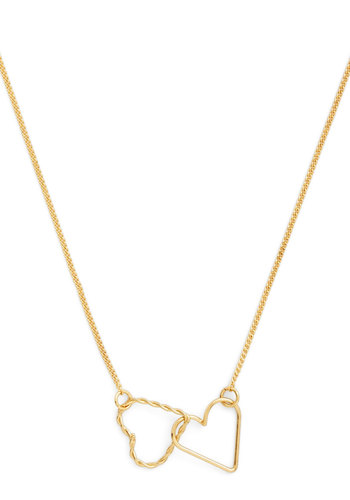 I Link It's Love Necklace - Gold, Solid, Cutout, Valentine's