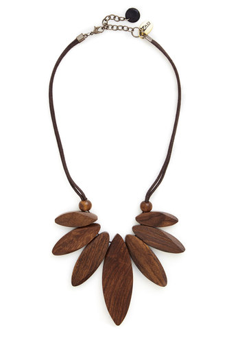Down to Earthy Necklace - Brown, Solid, Boho, Folk Art