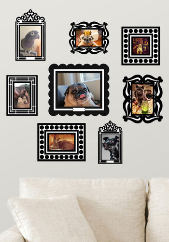 Frame of Deference Wall Decal Set in Black - Black, Dorm Decor, Good, Wedding, Gals, Under $20, Hostess