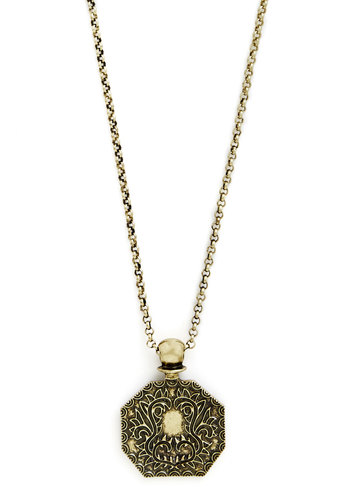 Precious Perfumer Necklace - Solid, Gold, Good, French / Victorian, Gold