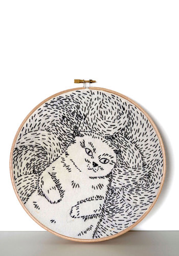 Embroidery Hoop Dreams Kit - Multi, Handmade & DIY, Cats, Good