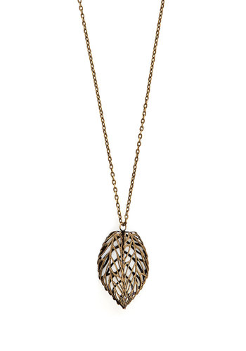 Change of Seasons Necklace - Gold, Fall