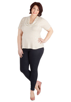 Manic Fun-Day Jeans in Dark Wash - Plus Size