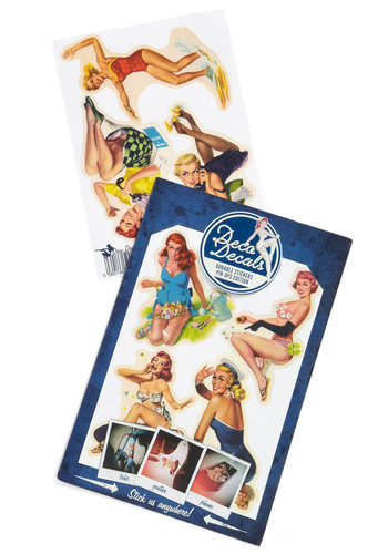 Pin-Up Your Pad Sticker Set - Multi, Good, Pinup, Vintage Inspired, Under $20, Guys