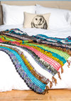 Colorful House Throw by Karma Living - Cotton, Knit, Multi, Stripes, Vintage Inspired, Best, Wedding, Festival, Boho