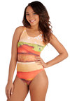 Whim-Surfing One Piece in Hamburger - Knit, Multi, Novelty Print, Beach/Resort, Quirky, Tank top (2 thick straps), Summer, Variation