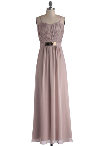 You Lead the Sway Dress - Chiffon, Sheer, Woven, Long, Pink, Solid, Special Occasion, Maxi, Better, Sweetheart, Prom, Bridesmaid, Pastel, Spaghetti Straps, Wedding