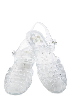 Totally Jelly Sandal in Clear Sparkle
