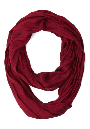 Brighten Up Circle Scarf in Plum - Red, Solid, Casual, Minimal, Good, Variation, Basic, Fall, Winter