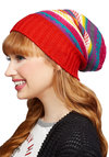 Inn Touch Hat - Red, Multi, Stripes, Fall, Winter, Better, Knit