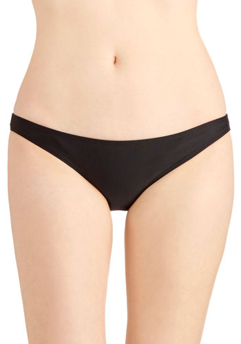 Sunny Business Swimsuit Bottom - Knit, Black, Solid, Beach/Resort, Black, Minimal, Summer, Exclusives, Underwire