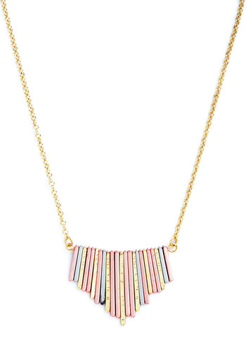 Sitar Hero Necklace - Gold, Solid, Good, Multi, Minimal, Festival
