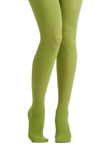 Tights for Every Occasion in Pear - Green, Solid, Minimal, Good, Variation, Basic, Knit, Fruits, Fall, Winter