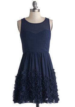 Crimpin' My Style Dress in Navy