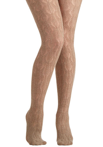 Creme de la Femme Tights - Solid, Special Occasion, Holiday Party, Luxe, Fall, Winter, Best, Variation, Sheer, Knit, Tan