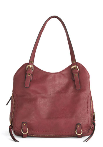 All A-Bordeaux Bag - Solid, Better, Faux Leather, Red, Work, Minimal