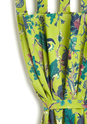 Winery Not? Curtain by Karma Living - Cotton, Woven, Green, Boho, Dorm Decor, Better, Floral, Wedding