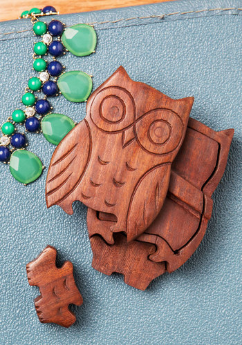 Owl of Your Things Keepsake Puzzle Box - Brown, Boho, Handmade & DIY, Rustic, Good, Owls, Critters