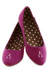 Wishful Walking Flat - Flat, Faux Leather, Purple, Solid, Novelty Print, Quirky, Good, Casual