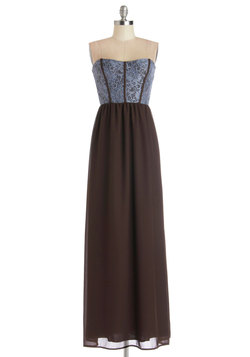 Enchanting Introductions Dress in Brown