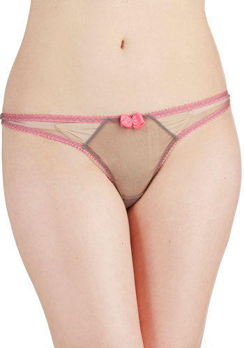 Under It All Undies in Grey and Pink - Grey, Pink, Solid, Bows, Trim, Pastel, Colorblocking, Sheer, Knit