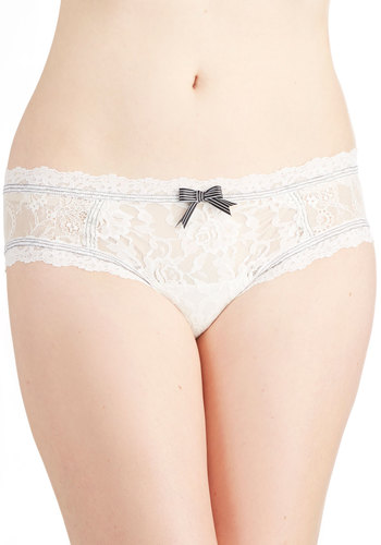 Hanky Panky Stitch to My Lou Undies by Hanky Panky - Sheer, Knit, White, Solid, Bows, Lace, Wedding, Bride, Lace